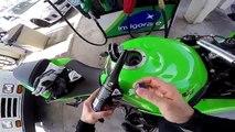 CBR 1000 Pulls on ZX6R / Cops .. / Rev Battle ZX6R vs Harley Davidson