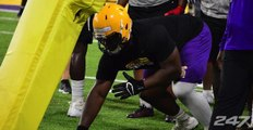 Clips of 2020 DT Jacobian Guillory at LSU camp