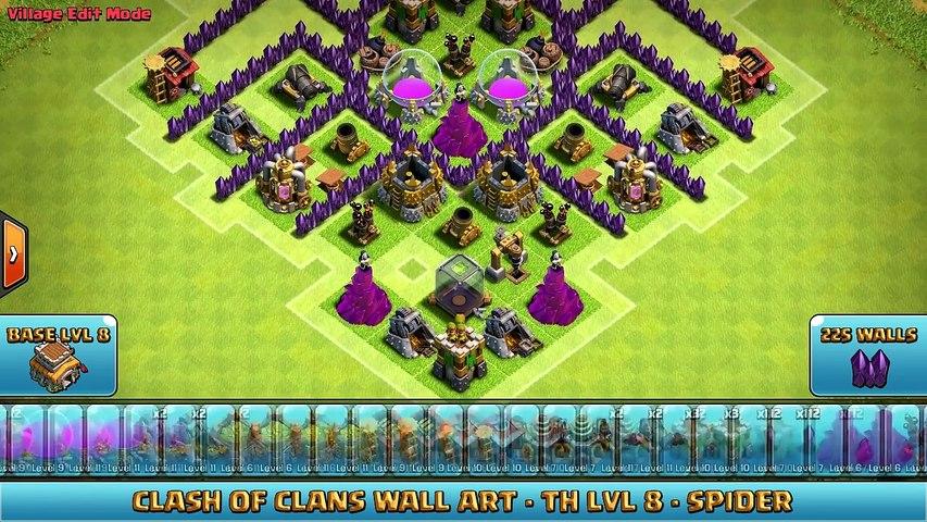 ★ Clash of Clans Troll Base ★ TH8 - Spider - Farming