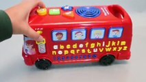 Learn Alphabet Numbers Counting Bus Youtube Surprise Eggs Play Doh Colors Clay Disney Frozen Toys