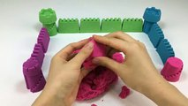 DIY Colors Kinetic Sand Building Pyramid Sky Castles Molds Fun & Creative for Kids Rhymes