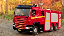 Realistic RC experience - 1/14 scale Scania fire truck emergency fire dispatch(NEW BGM)