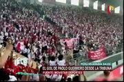 Los goles peruanos del amistoso con Arabia Saudita desde las tribunas