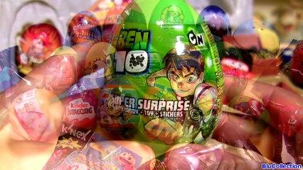 Minecraft Surprise Eggs Kinder Pac-Man Mickey SpongeBob Star Wars Cars Spider-Man Batman Superman