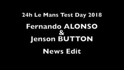 Fernando Alonso, mejor tiempo en la jornada de pruebas en Le Mans
