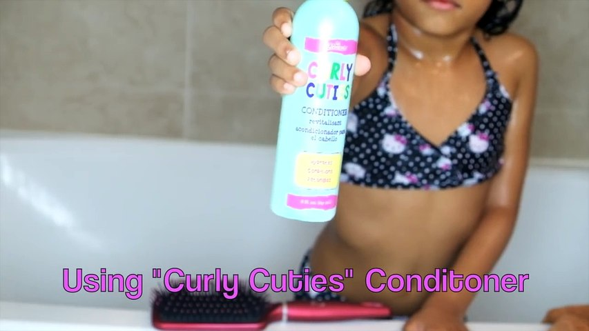 The BEST Wash Day Routine for CURLY Hair Kids   #KylieStyle
