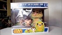 Star Wars JABBA THE HUTT, SLAVE LEIA & SALACIOUS B. CRUMB Funko Pops review