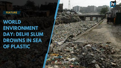 World Environment Day: Delhi slum drowns in sea of plastic
