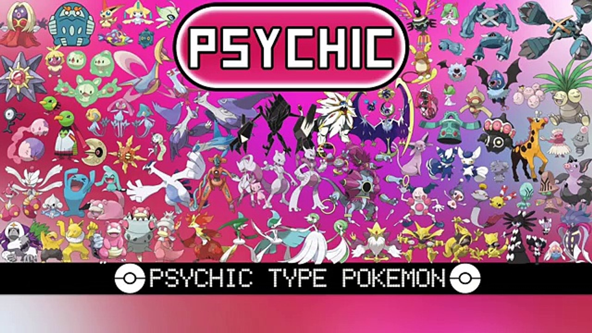 All Psychic Type Pokemon Video Dailymotion