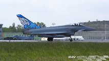 |NATO Tigermeet 2018| Eurofighter Typhoon F-2000A - Italian Air Force 36-40/36-46/36-44/36-51 - takeoff at Poznan´-Krzesiny Air Base [2160p25]