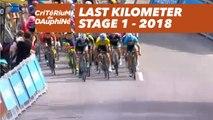 Last kilometer - Étape 1 / Stage 1 (Valence / Saint-Just-Saint-Rambert) - Critérium du Dauphiné 2018