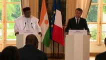 Conférence de presse d'Emmanuel Macron avec Mahamadou Issoufou, Président de la République du Niger