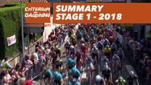 Summary - Stage 1 (Valence / Saint-Just-Saint-Rambert) - Critérium du Dauphiné 2018