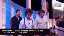 Quotidien : Yann Barthès accueille ses invités... avec un bébé dans les bras (vidéo)