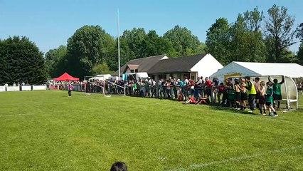 Coup Franc de NOA (LOSC1-U11) lors du tournoi de Saint germain des prés (Loiret-45) le 06-05-2018