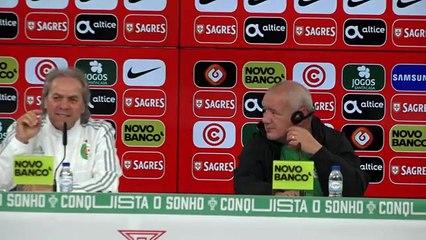 Conférence de presse de Madjer avant le Portugal