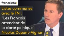 """Listes communes avec le FN : """"Comment Laurent Wauquiez qui est président du 1er parti d'opposition, peut-il ouvrir les listes des municipales à la majorité, avec l'accord de M. Castaner ? Les Français attendent de la clarté politique"""""""