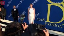 Karlie Kloss is a vision in white arriving at the 2018 CFDAs