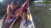 Un aviron fonce droit sur un autre bateau... Drame évité de peu
