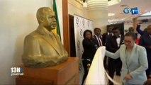 RTG / La Fondation Omar Bongo offre un buste de feu Omar Bongo aux sénateurs Gabonais