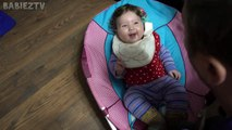Cute Baby Laughs Hysterically At Belching - Baby Lile_HD