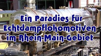 Ein Paradies für Modelleisenbahn - Dampfloks und Echtdampf - Lokomotiven beim Dampfbahnclub Taunus und der großen Gartenbahn - Ein Video von Pennula