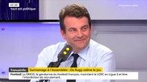 """Surmenage des députés: """"C'est plutôt rassurant que depuis un an, nous n'ayons pas arrêté"""" estime Thierry Solère, député LREM des Hauts-de-Seine"""