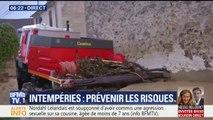 Intempéries: à Bellot, en Seine-et-Marne, la montée des eaux a piégé un camion de pompiers