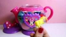 Minnie Mouse Tea Time Set Surprise Eggs Peppa Pig Minnie Mickey Spider-Man Huevos Sorpresa , Cartoons animated mos 2018