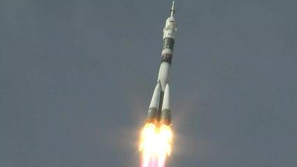 Launch of Manned Soyuz MS-09 on Soyuz-FG Rocket