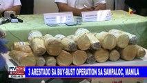 Tatlong arestado sa buy-bust operation sa Sampaloc, Manila
