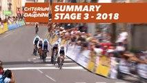 Summary - Stage 3 (Pont-de-Vaux / Louhans-Châteaurenaud) - Critérium du Dauphiné 2018
