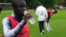NGolo Kanté acts as if he drinks during training camp