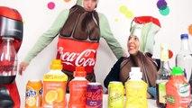 SODA challenge ! VRAIS SODAS vs FAUX SODAS - Challenge en couple Mélanie défie Alex - Démo Jouets