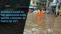 Mumbai lashed by pre-monsoon rain, water-logging and jams in parts of city