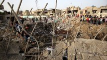 Aftermath of explosion in Iraq capital Baghdad
