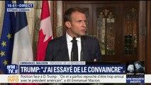 """Guerre de l'acier: """"Les mesures prises sont contre-productives y compris pour l'économie américaine"""", affirme Emmanuel Macron"""