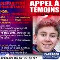 Disparition : Lucas Tronche - 15 ans (à sa disparition)