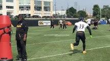 JuJu Smith-Schuster returns to the Steelers practice field