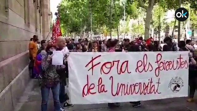 Altercados en la Universidad de Barcelona al celebrarse el Homenaje a Cervantes