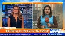 Enfermos con cáncer pidieron al presidente de Bolivia mayor presupuesto para su atención