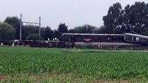 Neufvilles déraillement de train