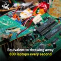 The world generates around 40 million tons of electronic waste each year