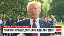 Trump feuds with allies, sticks up for Russia - YouTube