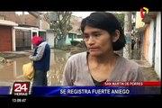 San Martín de Porres: gran aniego afecta a vecinos de la urbanización San Diego