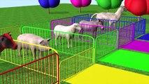 Aprende los colores de los animales de granja con Gorila comiendo plátano y cambiando de color para niños