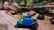 NEW LEFTY FNAF 6 ANIMATRONIC! (GTA 5 Mods For Kids FNAF