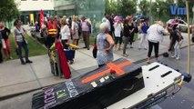 Les Urgentistes de l'hôpital Sainte-Musse à Toulon, en grèves depuis 100 jours