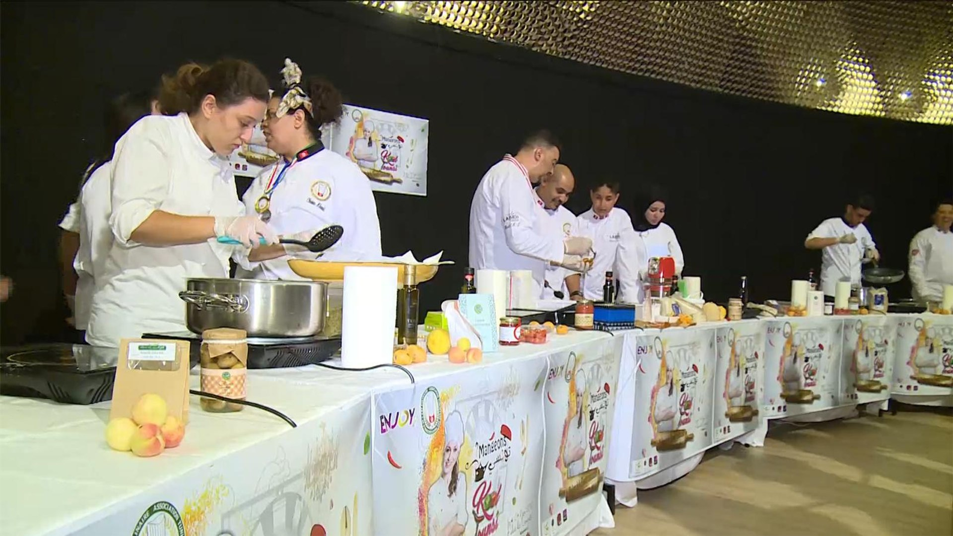 هذا الصباح-مشاركة كبيرة بمعرض الطبخ والأكلات التونسية