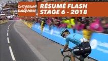Résumé Flash - Étape 6 (Frontenex / La Rosière Espace San Bernardo) - Critérium du Dauphiné 2018
